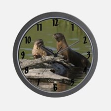"""Whimsical Otter"" Wall Clock"