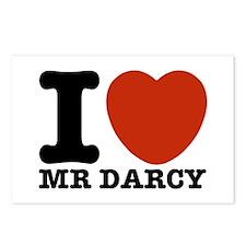 I Love Darcy - Jane Austen Postcards (Package of 8