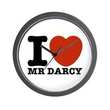 I Love Darcy - Jane Austen Wall Clock