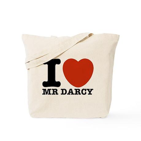 I Love Darcy - Jane Austen Tote Bag