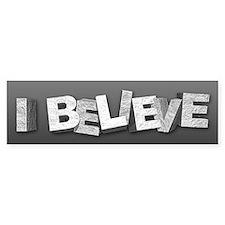 I Believe Car Sticker