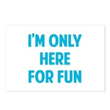 Here for fun Postcards (Package of 8)
