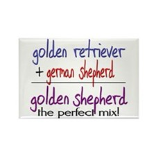 Golden Shepherd PERFECT MIX Rectangle Magnet