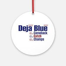 Deja Blue Giants Ornament (Round)