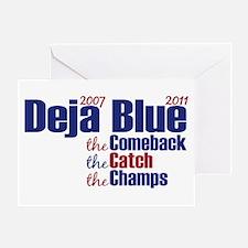 Deja Blue Giants Greeting Card