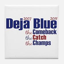Deja Blue Giants Tile Coaster