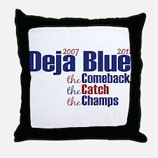 Deja Blue Giants Throw Pillow