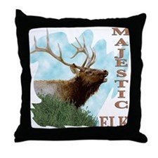 Majestic Elk Throw Pillow