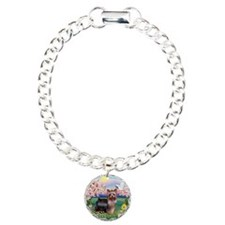 Blossoms/Yorkie #20 Charm Bracelet, One Charm