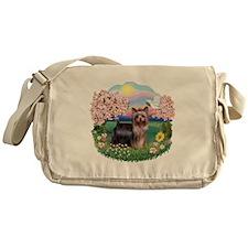 Blossoms/Yorkie #20 Messenger Bag