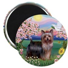 Blossoms/Yorkie #20 Magnet