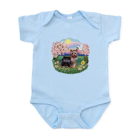 Blossoms/Yorkie #20 Infant Bodysuit