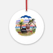 Palm Trees-Yorkie #20 Ornament (Round)