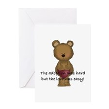 Adoption Bear Greeting Card