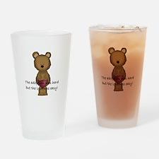 Adoption Bear Drinking Glass