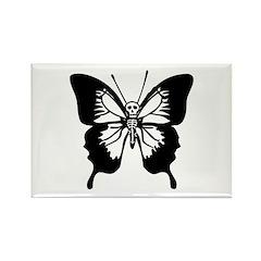 Butterfly Skull Rectangle Magnet