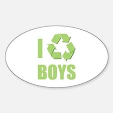 I Recycle Boys Decal