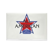 All American Triplet Brother Rectangle Magnet
