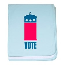 Time To Vote baby blanket