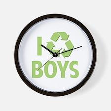 I Recycle Boys Wall Clock