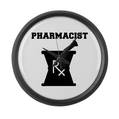 Pharmacist Rx Large Wall Clock