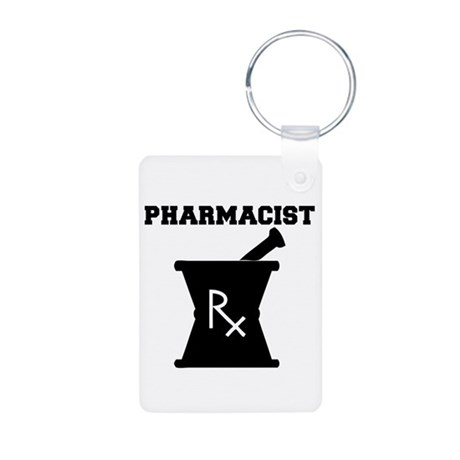 Pharmacist Rx Aluminum Photo Keychain