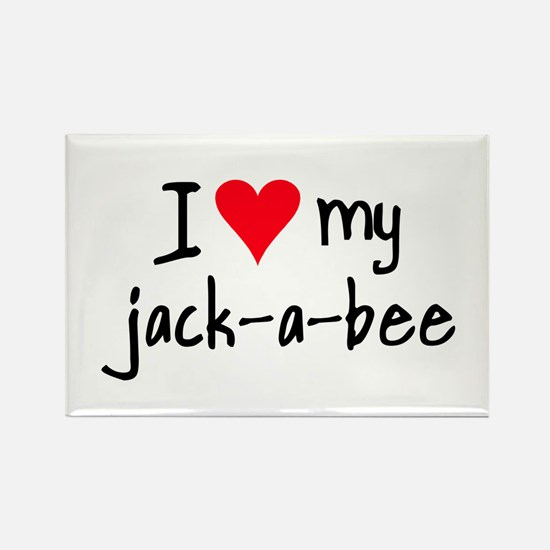 I LOVE MY Jack-A-Bee Rectangle Magnet