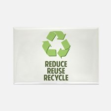 Reduce Reuse Recycle Rectangle Magnet
