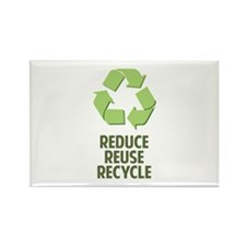 Reduce Reuse Recycle Rectangle Magnet (100 pack)