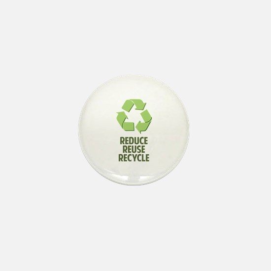 Reduce Reuse Recycle Mini Button (100 pack)
