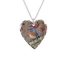 Eastern Bluebird Necklace