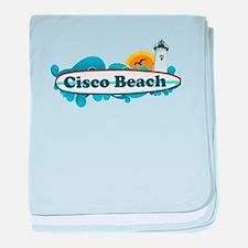 """Cisco Beach """"Surf"""" Design. baby blanket"""
