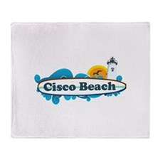 "Cisco Beach ""Surf"" Design. Throw Blanket"