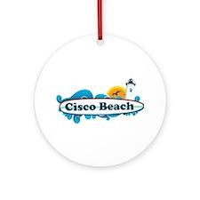 "Cisco Beach ""Surf"" Design. Ornament (Round)"