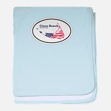 Cisco Beach Oval Design. baby blanket