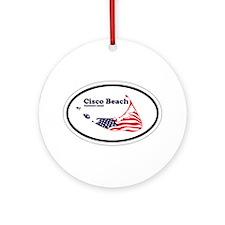 Cisco Beach Oval Design. Ornament (Round)
