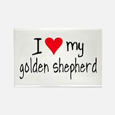 I LOVE MY Golden Shepherd Rectangle Magnet