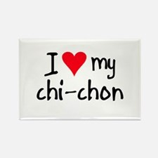 I LOVE MY Chi-Chon Rectangle Magnet