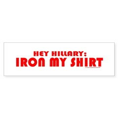 Hillary iron sticker