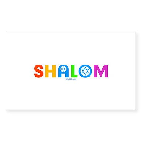 Shalom Sticker (Rectangle)