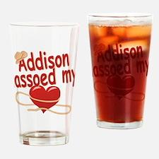 Addison Lassoed My Heart Drinking Glass