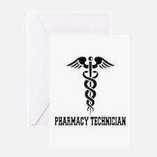 Pharmacy Tech Caduceus Greeting Card