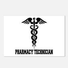 Pharmacy Tech Caduceus Postcards (Package of 8)