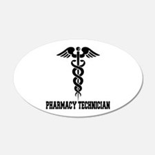 Pharmacy Tech Caduceus 22x14 Oval Wall Peel