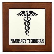 Pharmacy Tech Caduceus Framed Tile