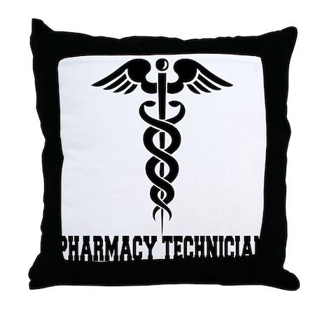Pharmacy Tech Caduceus Throw Pillow