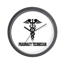 Pharmacy Tech Caduceus Wall Clock