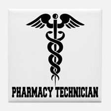 Pharmacy Tech Caduceus Tile Coaster