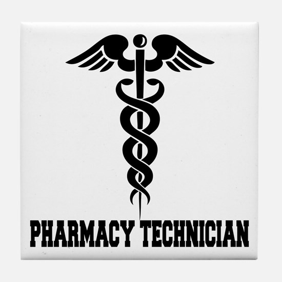 Pharmacy Tech Caduceus Tile Coaster