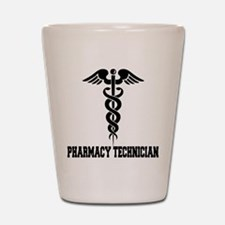 Pharmacy Tech Caduceus Shot Glass